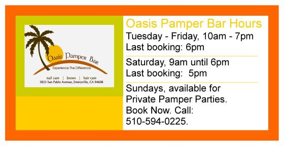 Oasis Pamper Bar Salon Hours